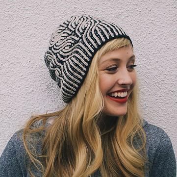 patron tricot bonnet Vintage Prim par Andrea Mowry