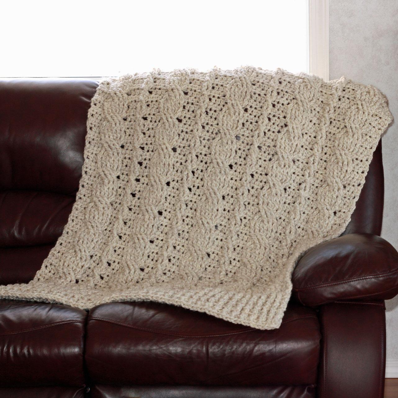 Patron Crochet Couverture à Torsades Par Knotsewcute