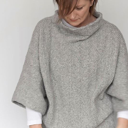 poncho en tricot