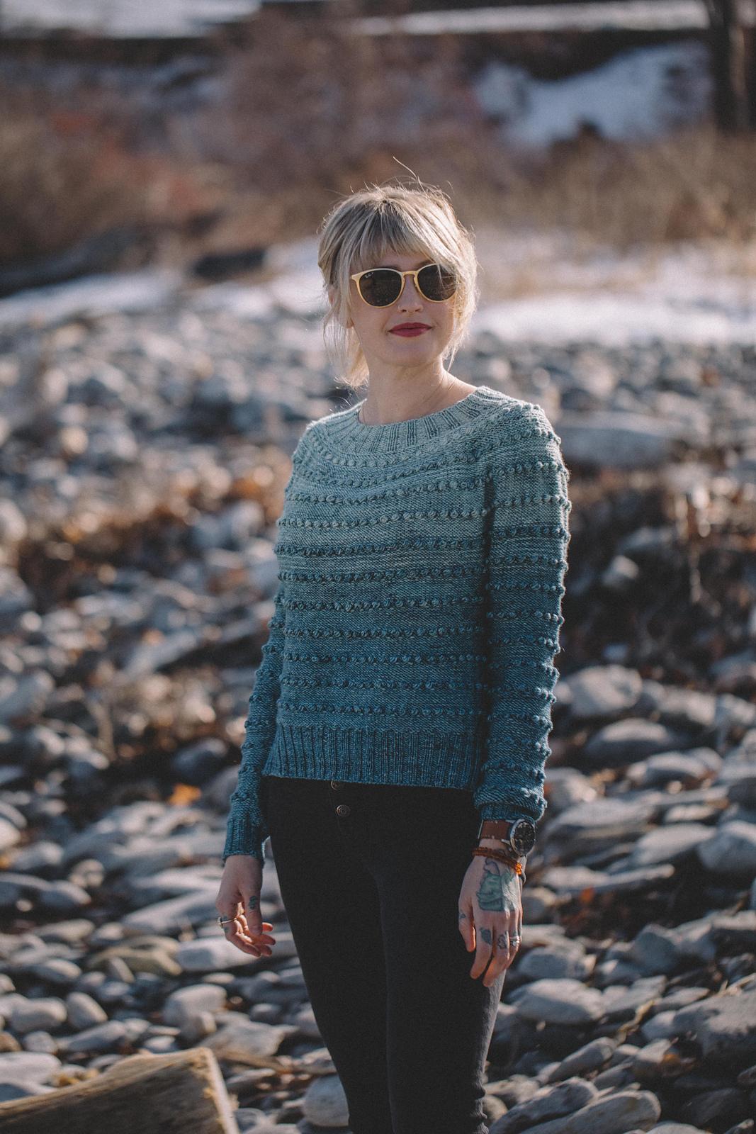 patron tricot pull Fade Névé par Andrea Mowry